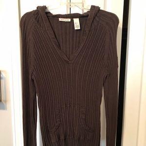 DKNY hoodie sweater chocolate brown